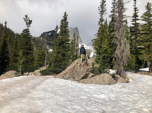 Hallett Peak in the background
