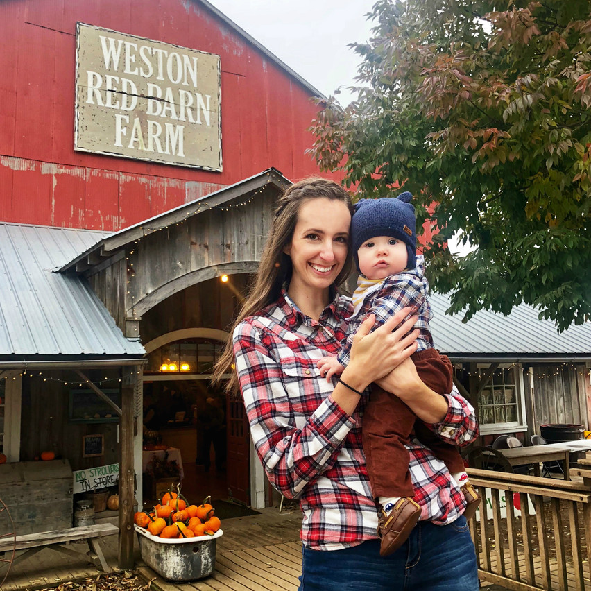 Family time at the Weston Red Barn Farm!