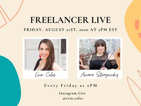 Freelancer Live with Ariana Straznicky