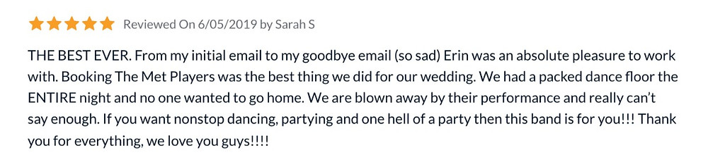 Review from Sarah and Michael