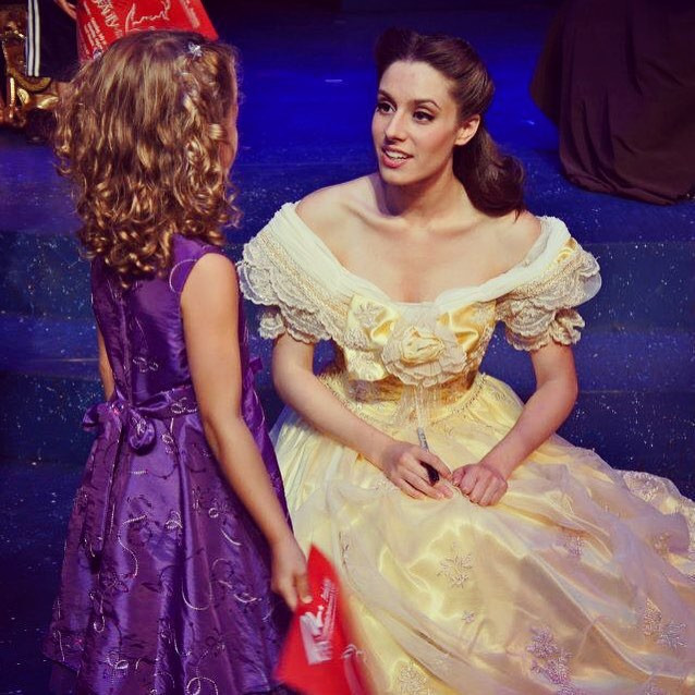 Me playing Belle in a local theater production of Beauty and the Beast