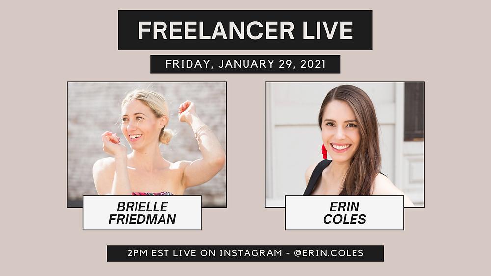Freelancer Live with Brielle Friedman