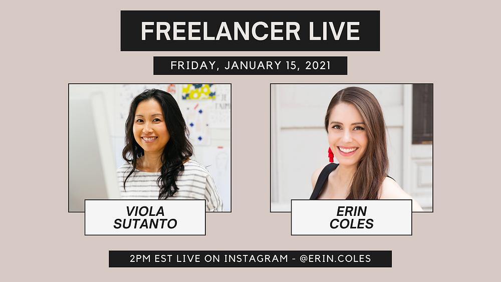 Freelancer Live with Viola Sutanto