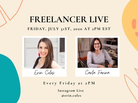 Freelancer Live with Carla Farina