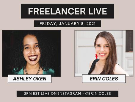 Freelancer Live with Ashley Oken