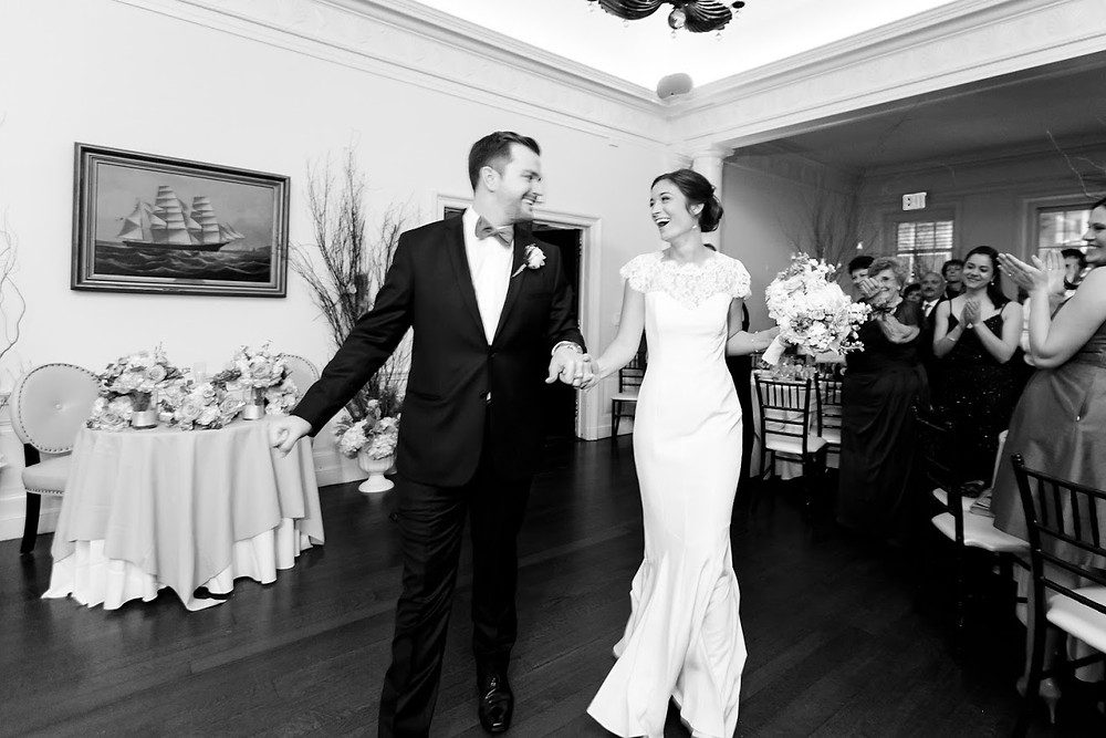 Amanda and Dane entrance into wedding reception