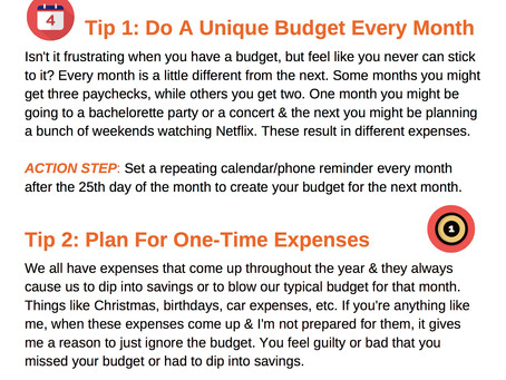 Four Tips To Stay On Track With A Budget
