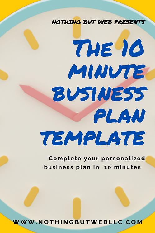 10 MINUTE BUSINESS PLAN TEMPLATE (E-BOOK)