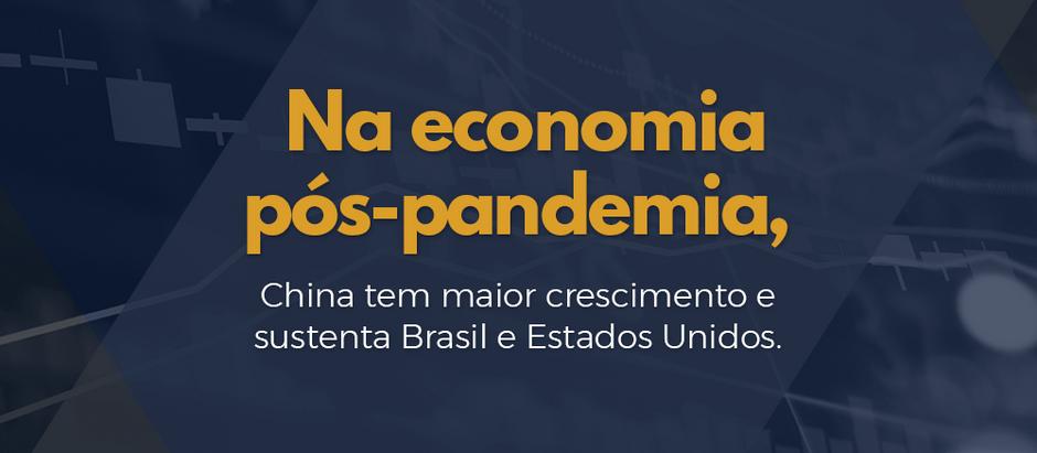 Na economia pós-pandemia, China tem maior crescimento e sustenta Brasil e Estados Unidos