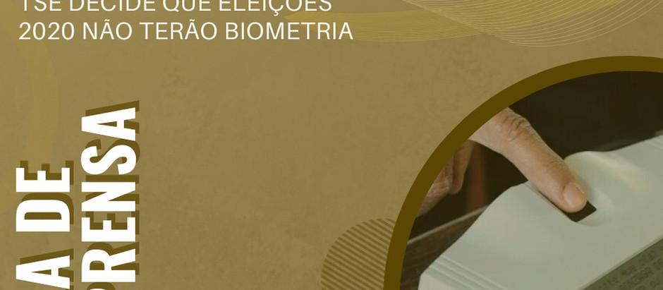 Leitor biométrico seria danificado com higienização intensa durante as eleições