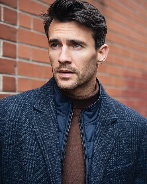 Blue overcoat Ernest