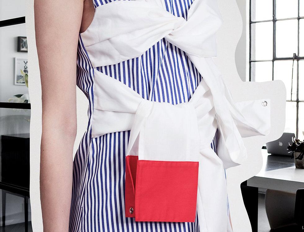 Stripe Twin-Bow Dress