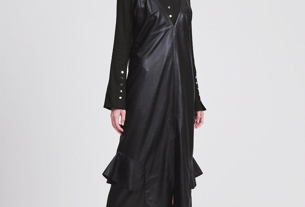Leather D-Rings Slip Dress
