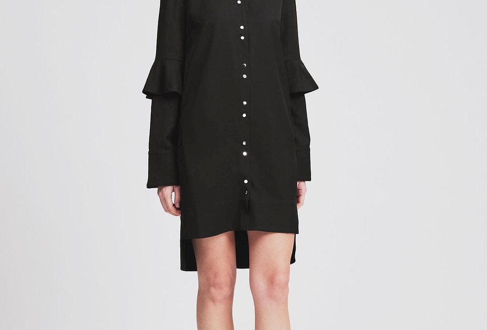 Ruffle Sleeves Shirt Dress