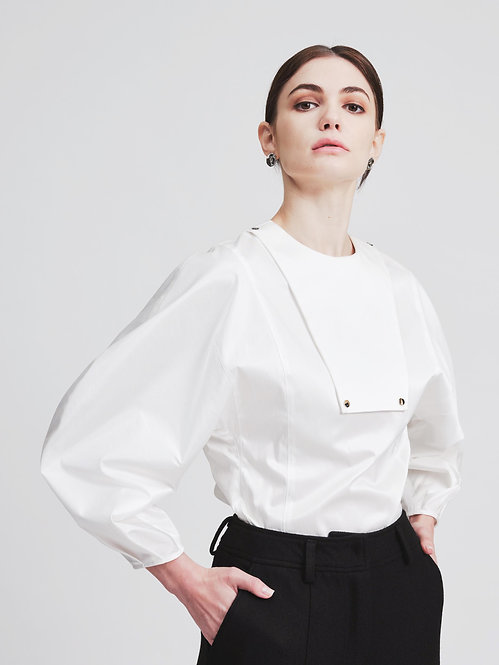 Puff Sleeves Structural Top