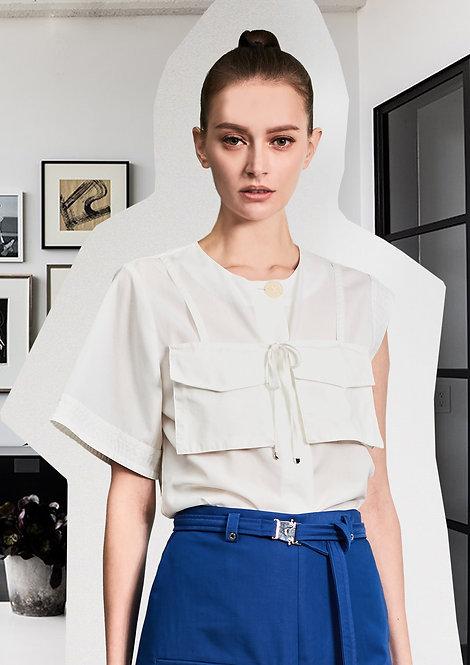 Asymmetric Pockets Shirt