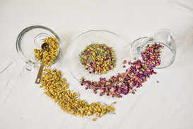 Herbal tea mix rose and chamomile