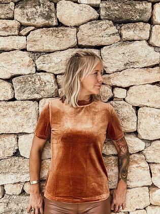 Velours roestoranje shirt