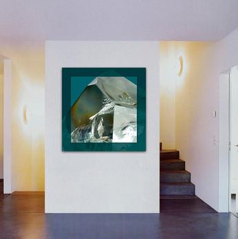 Kristall im Raum