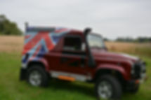 TWISTED DEFENDER WITH HELP FOR HEROES DECALS AND UNION FLAG
