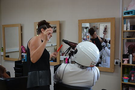 THE STIG HIRE AT HAIR DRESSERS