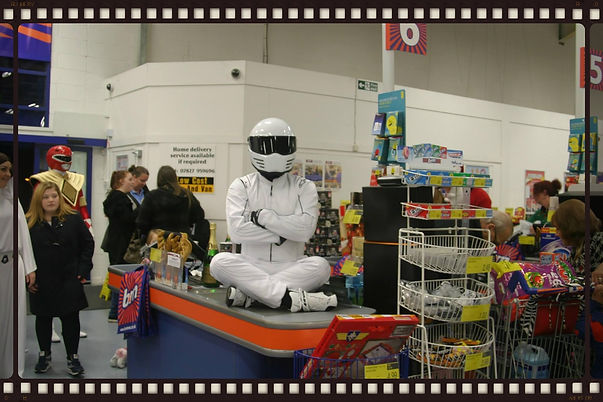 the stig at B & M kettering , hire the Stig  for your event