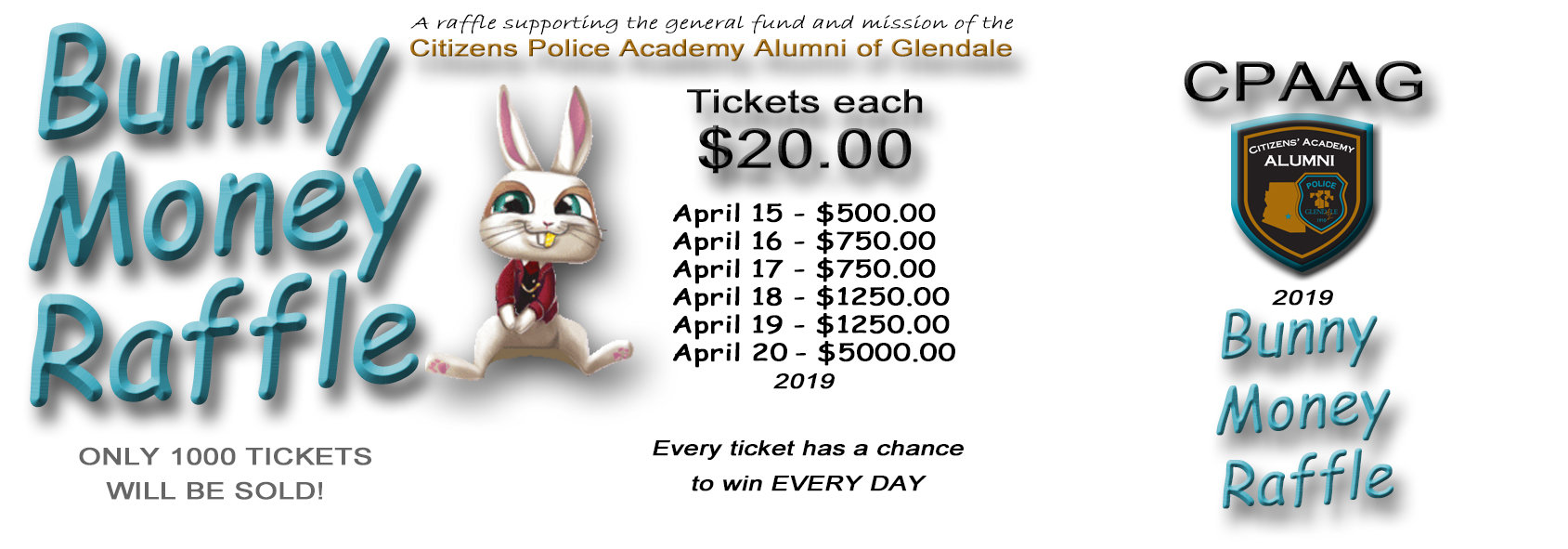 Bunny Money Raffle Ticket