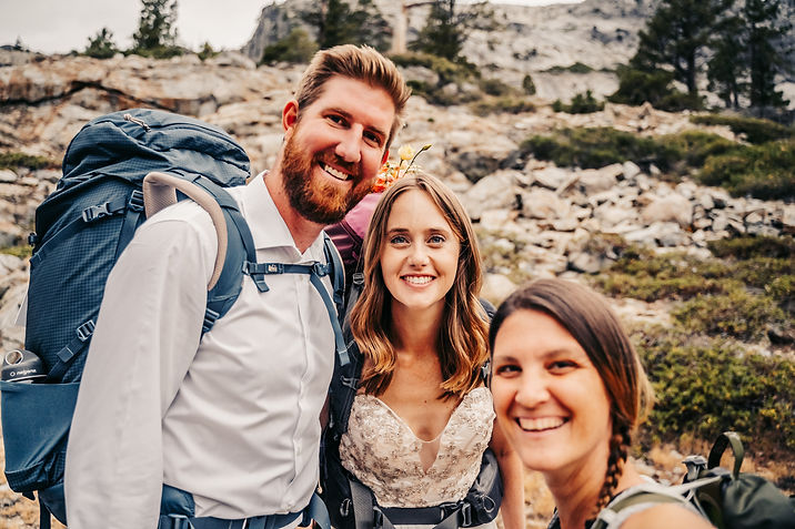 Bride and Groom of an adventure elopement with Mindful Media Photography in Lake Tahoe, California