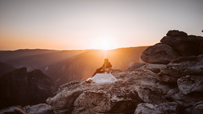 Epic Yosemite Elopement! I Glacier Point Ceremony and Sunset Hike to Taft Point!