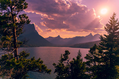 sunset-at-glacier-national-part