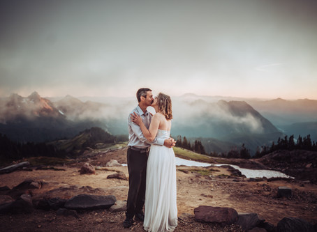 Mt. Rainier Elopement at Panorama Point