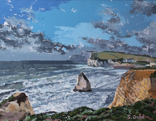 Freshwater Bay, looking towards Needles, Isle of Wight