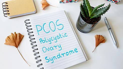 PCOS written in a diary.
