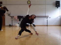 Rehearsing with Whynot Dance Company