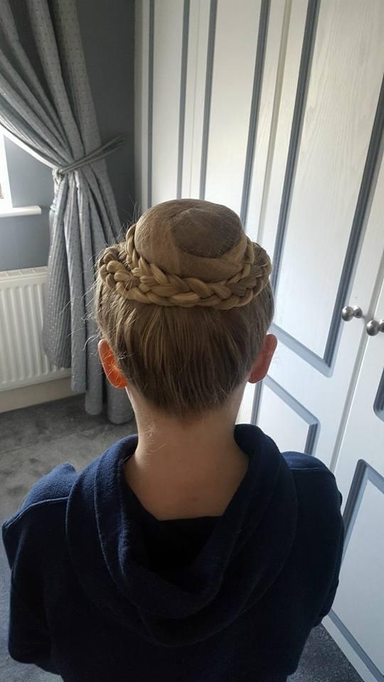 Our elegant ballet hair