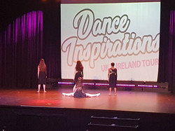 Senior Girls in Action on Stage