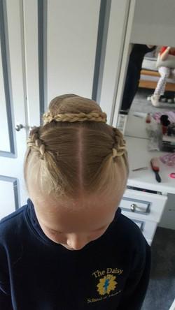 Elegant ballet hair