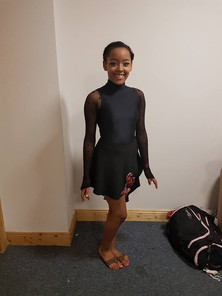 Katie ready for her Lyrcial solo