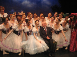 Meeting President Michael D Higgins in Galway during nationwide tour of Giselle.