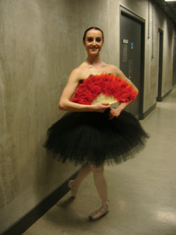 Back stage at RTE's Ballet Chancers in Helix Dublin