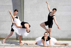Rehearsing with Whynot Dance Company Cultural Day Ireland