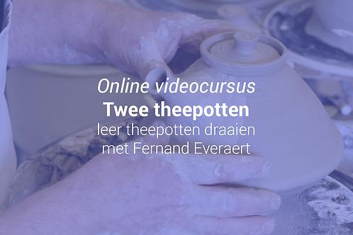 Twee theepotten: leer theepotten maken met Fernand Everaert
