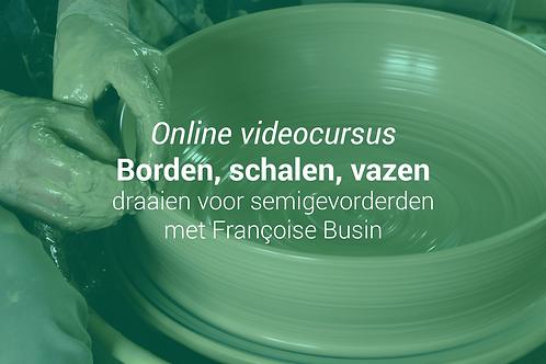 Borden, schalen, vazen: draaien voor semigevorderden met Françoise Busin