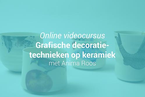 Grafische decoratietechnieken met Anima Roos