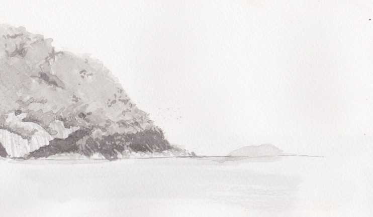 Watercolor, ink wash