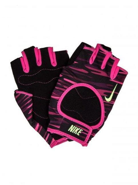 Guantes de pesas rosado con negro