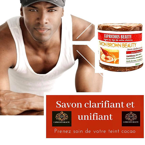 Savon Brown Beauty- clariant pour homme