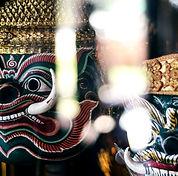 traditional lakhon khol khmer dance mask