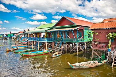 The floating village, caled Komprongpok,