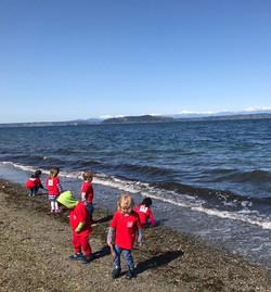Exploring the beach